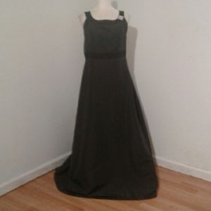 David's Bridal Black Evening Gown and  Pin  12